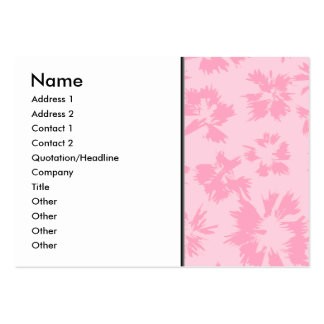 Pink floral pattern. large business cards (Pack of 100)