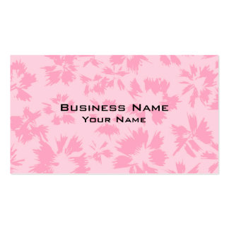 Pink floral pattern. Double-Sided standard business cards (Pack of 100)