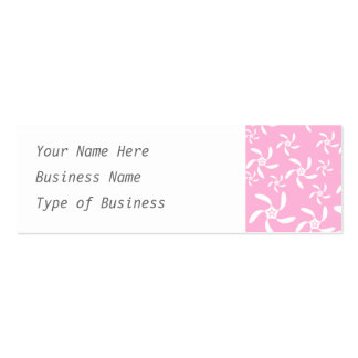 Pink Floral Pattern. Business Card Template