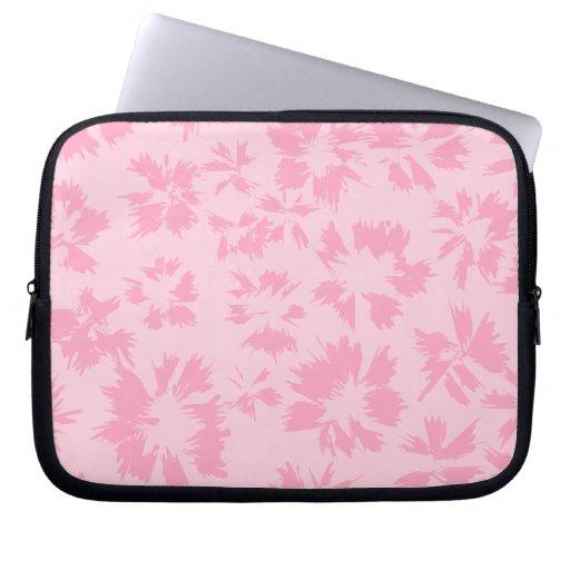 Pink floral pattern. computer sleeves