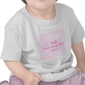 Pink Floral Pattern. Custom Pink Text. Tshirts