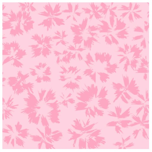 Pink floral pattern. cut outs