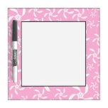 Pink Floral Pattern. Dry Erase Whiteboard