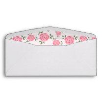 Pink Floral Pattern Envelope