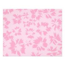 Pink floral pattern. flyer