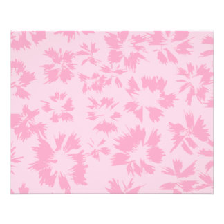 Pink floral pattern flyers