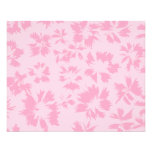 Pink floral pattern. flyers