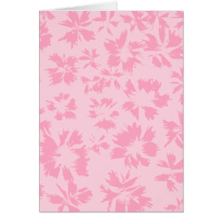 Pink floral pattern. greeting card