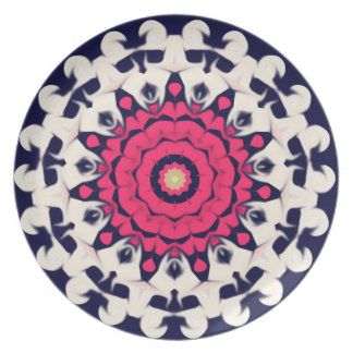 Pink floral pattern plates