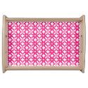 Pink Floral Pattern Serving Platter