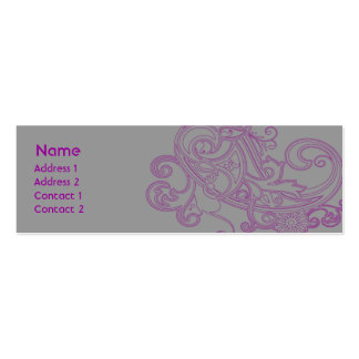 Pink Floral Pattern - Skinny Business Card Templates