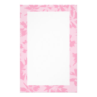 Pink floral pattern. stationery