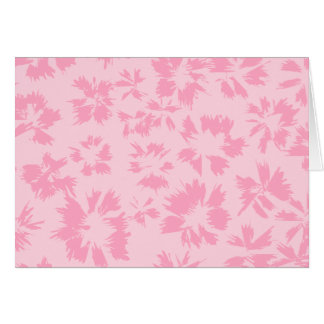 Pink floral pattern. stationery note card
