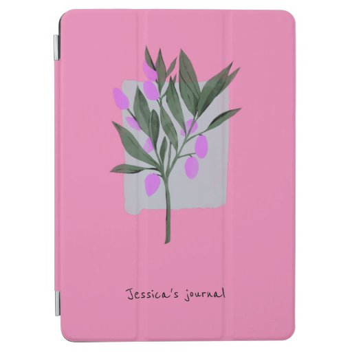 Pink Floral Personalised iPad Air Cover
