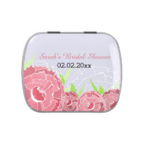 pink floral personalized candy tins