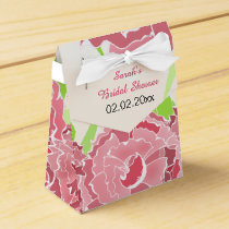 pink floral personalized favor boxes