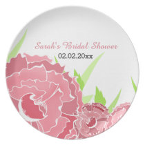 pink floral Personalized Plate