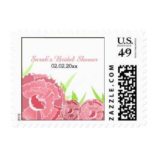 pink floral Personalized Stamps