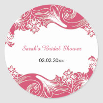 pink floral Personalized stickers