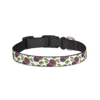 Pink Floral Pet Collar