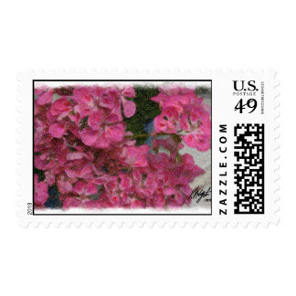 Pink Floral Postage