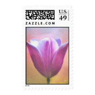 Pink Floral Postage Stamps