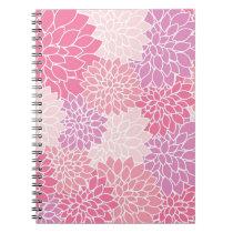 Pink Floral Print Notebook