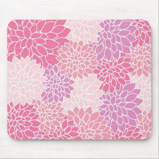 Pink Floral Printed Mousepad