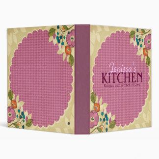 Pink Floral Recipe Binder