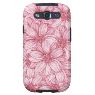 Pink Floral Repeat Illustration Galaxy S3 Case