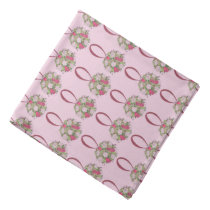 Pink Floral Rose Bouquet Flower Wedding Marriage Bandana