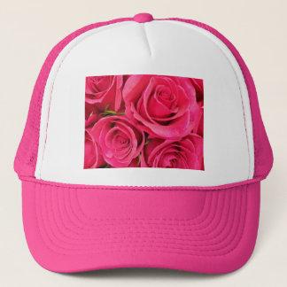PInk floral roses Trucker Hat