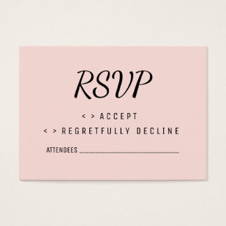 Pink Floral RSVP Wedding Card - Chic - Floral