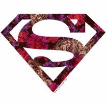 supergirl, floral s-shield, girly, cute, super hero, heroine, metropolis, superman, dc comics, Photo Sculpture with custom graphic design
