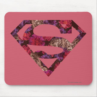 Pink Floral S-Shield Mouse Pad