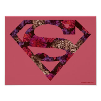 Pink Floral S-Shield Poster