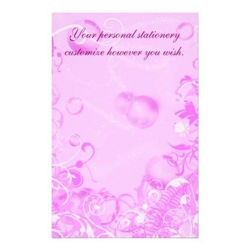 Pink Floral satationery, template Stationery