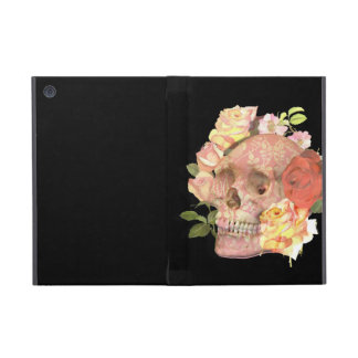 Pink Floral Skull Roses Picture iPad Mini Covers