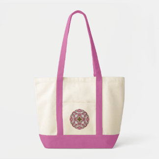 Pink Floral Snowflake. Impulse Tote Bag