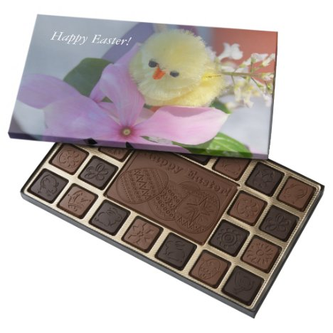 Pink Floral Spring Chicken Easter Gift Assorted Chocolates