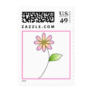 Pink floral stamp