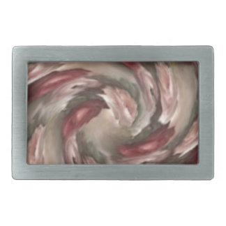 Pink Floral Swirl Belt Buckle