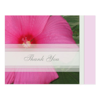 Pink Floral Thank You Postcard