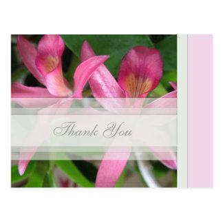 Pink Floral Thank You Postcard