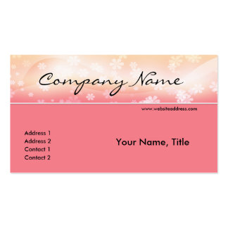 Pink Floral Topper Business Card