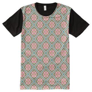 Pink Floral Trellis Vintage Flower Pattern All-Over-Print Shirt