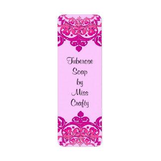 Pink Floral Vintage Art Custom Craft Labels