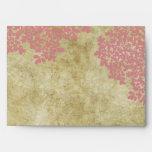 Pink Floral Vintage Envelope