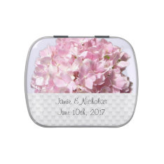 Pink Floral Wedding Favor Candy Tin at Zazzle