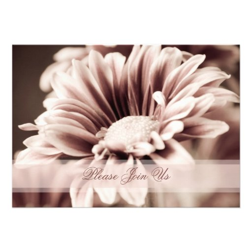 Pink Floral Wedding Vow Renewal Invitations